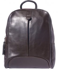Backpack in smooth calfskin genuine leather Paola colour dark brown for women