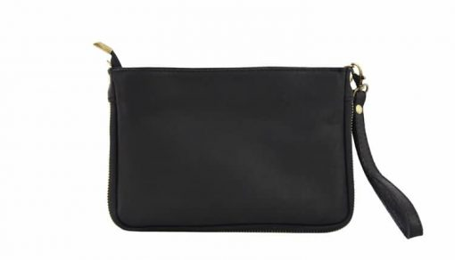 sale buy yellow black clutch Izusa in natural leather sauvage for women