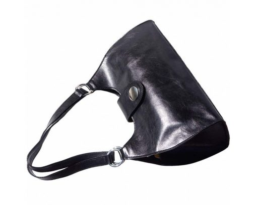 black bag in leather Elena woman