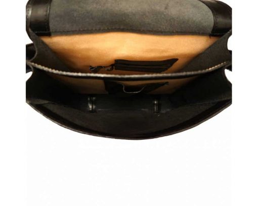 dark brown briefcase Augustina women