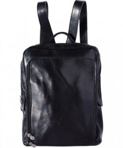 Backpack with handle from genuine leather Alessandro Colour black for men