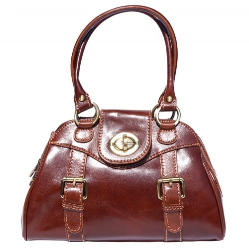Genuine Leather bag Dolcina with double handle Colour brown for women