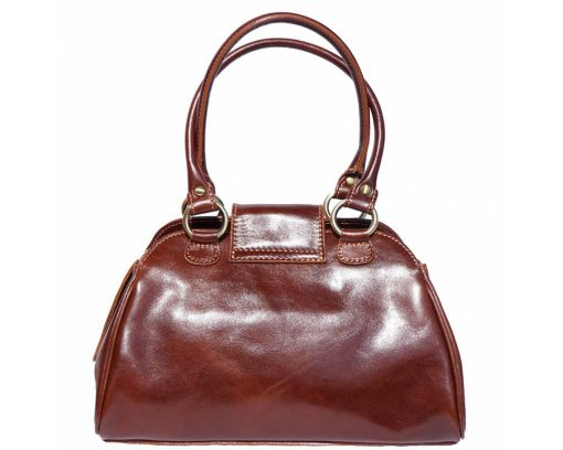 brown handbag Beatrice with genuine leather lining in leather women