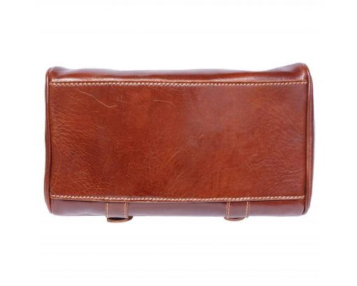 brown bag Beatrice with genuine leather lining in leather woman