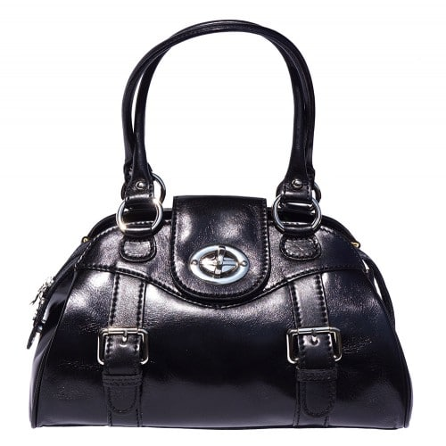 Genuine Leather bag Dolcina with double handle Colour black for women