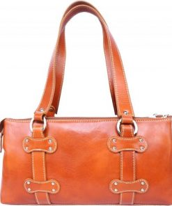 Genuine calf leather handbag Dalila Colour tan for women
