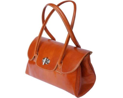 brown handbag in leather Pabla for woman