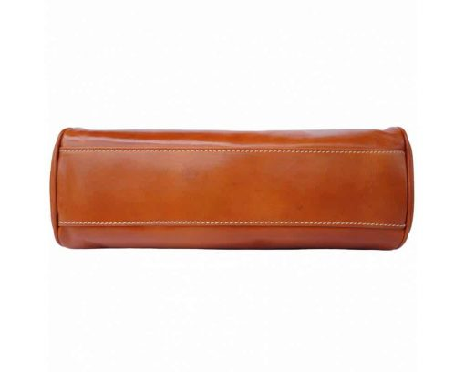 orange dark brown bag in natural real leather Paban for woman