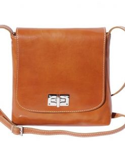 Shoulder bag in genuine cow leather Isabella Colour tan for women