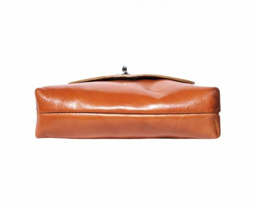 brown shoulder bag in natural leather Ecaterina for women