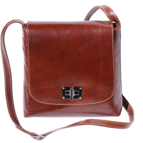 Shoulder bag in genuine cow leather Isabella Colour brown for women