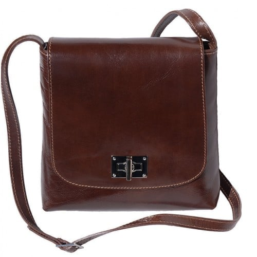 Shoulder bag in genuine cow leather Isabella Colour Dark brown for women
