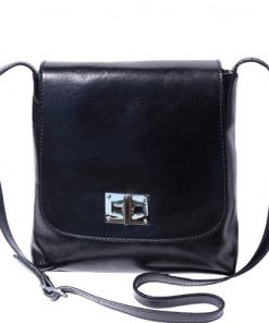 Shoulder bag in genuine cow leather Isabella Colour black for women