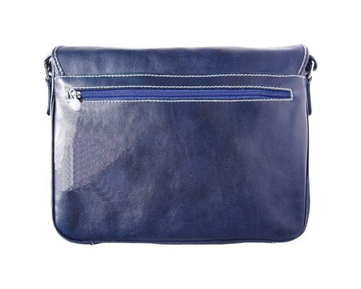 dark blue briefcase bag in genuine rigid leather Costela from italy man