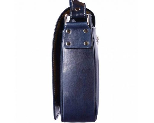 dark blue briefcase bag in real leather Costela man