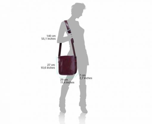dark brown briefcase bag in real leather Costela women