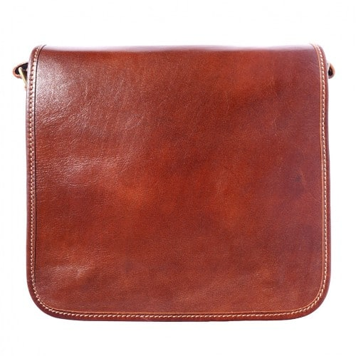 Messenger business bagbag in genuine cow leather Lamberto Colour brown for women
