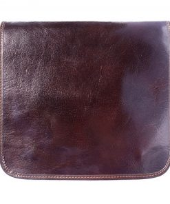 Messenger bag in cow leather Lamberto Colour dark brown for men