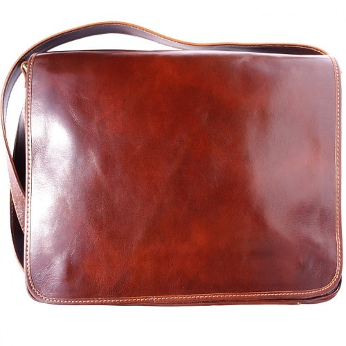 Business shoulder bag Ludovico in genuine leather Colour brown for men