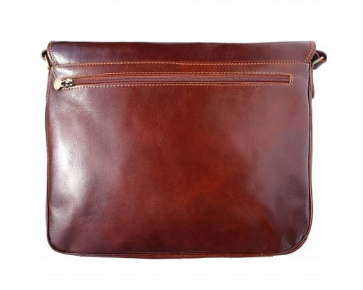 brown handbag Nadia in real leather woman