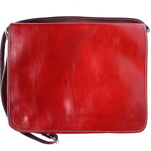 Business shoulder bag Ludovico in genuine leather Colour light red for women