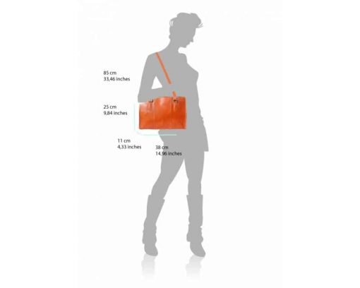 tan shoulder bag in genuine leather Cristina for woman