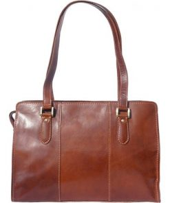 Lady's shoulder bag Ombretta in genuine leather Colour brown for women