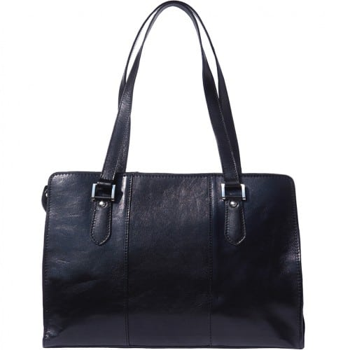 Lady's shoulder bag Ombretta in genuine leather Colour black for women
