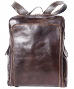 buy italian Big unisex backpack in genuine leather Aldo Colour Dark Brown for woman