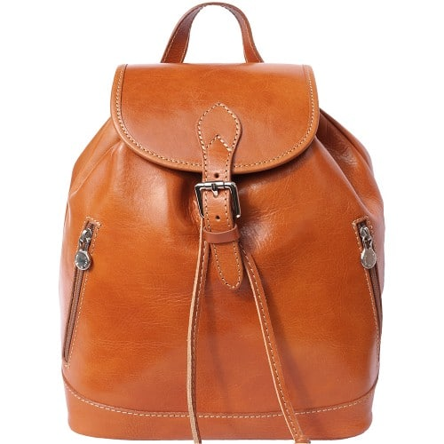 Genuine Leather backpack Matteo Colour tan for women