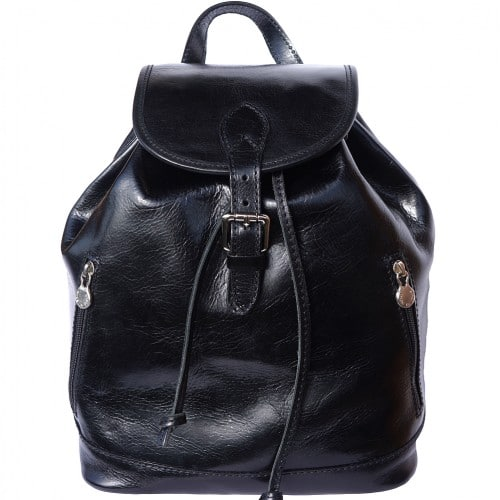 Genuine Leather backpack Matteo Colour Black for women