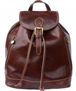 Genuine Leather backpack Matteo Colour brown for men