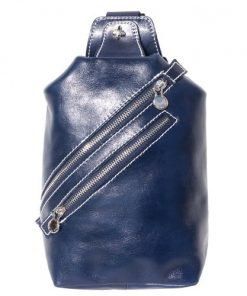 Leather waist bag Wolfgang for men in genuine leather Colour dark blue from italy