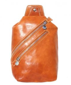 Leather waist bag Wolfgang for men in genuine leather Colour tan from italy