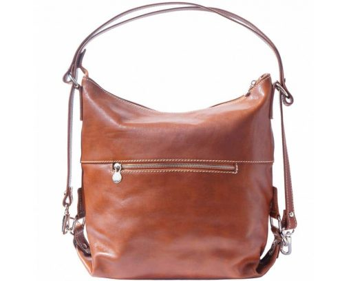 brown bags backpacks Matilda in genuine leather for women