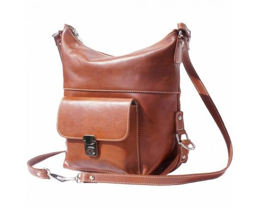 brown bags backpacks Matilda in leather for women