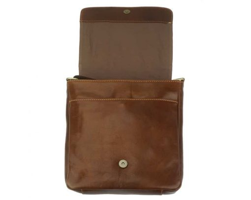 buy brown messenger in leather liorii man