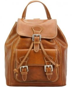 tan backpack in calfskin leather Carlo man