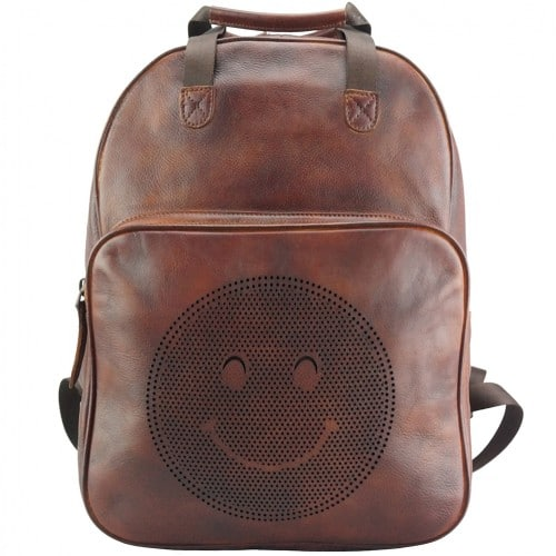 buy italian retro Vintage backpack of genuine leather Giorgio Colour brown mans