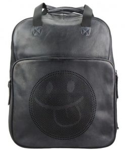 buy italian retro Vintage backpack of genuine leather Giorgio Colour black man
