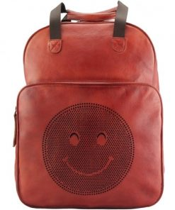 buy italian retro Vintage backpack of genuine leather Giorgio Colour red for women