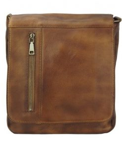 brown cross body flap bag Guicciardo mans