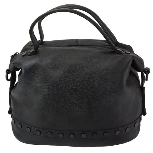 black handbag with rivets Aliona for women