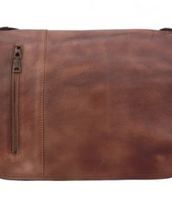 buy italian Messenger retro vintage genuine leather bag Ignazio Colour brown for men