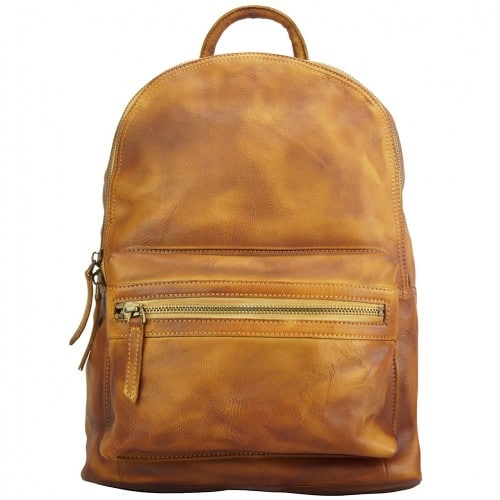 buy italian Backpack in genuine retro vintage calfskin leather Michele Colour tan for men
