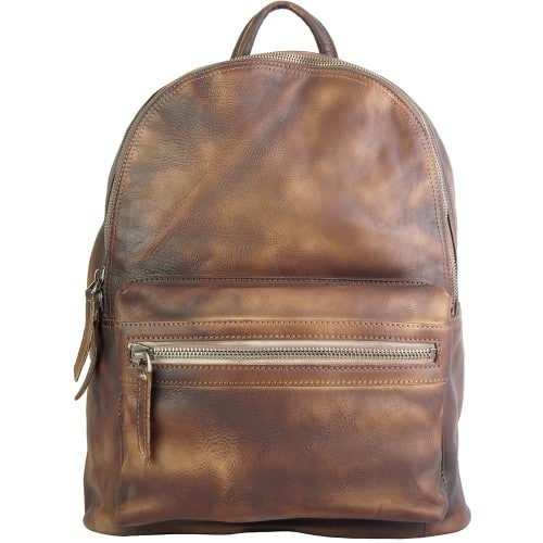 buy italian Backpack in genuine retro vintage calfskin leather Michele Colour brown for men