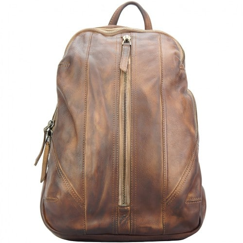buy italian Backpack in genuine retro vintage calfskin leather Paolo Colour brown woman