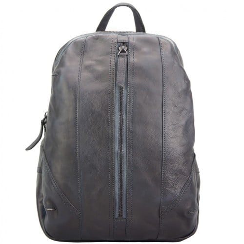 buy italian Backpack in genuine retro vintage calfskin leather Paolo Colour black woman