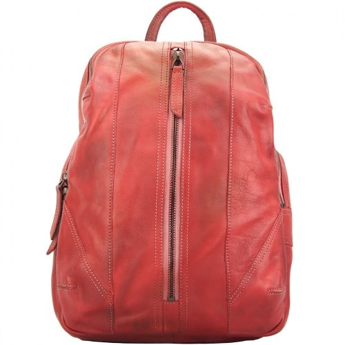 buy italian Backpack in genuine retro vintage calfskin leather Paolo Colour Dark red mans
