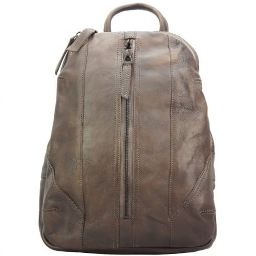 buy italian Backpack in genuine retro vintage calfskin leather Paolo Colour Dark Brown man